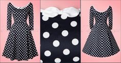Collectif Clothing 50s Willow Polkadot Doll Dress in Navy and White  ▶▶▶ http://pinup-fashion.de/2e6jKOB   The 50s Willow Polkadot Doll Dress is a playful swing dress with playful details!  We don't think there is ever a wrong time for a polkadot...