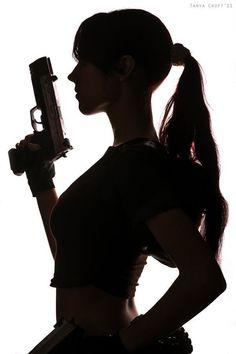 Lara Croft (Tomb Raider: Legend) by *Misslarisacroft Gun Aesthetic, Badass Aesthetic, Bad Girl Aesthetic, Character Aesthetic, Tomb Raider Legend, Foto Fantasy, Lara Croft Cosplay, Wattpad Book Covers, Military Girl