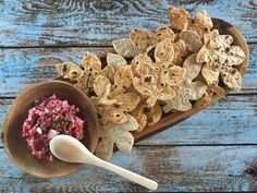 Cranberry salsa with fall leaf tortilla chips