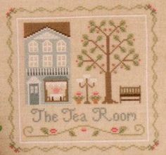 Tea Room, The: A Cross Stitch Chart by Country Cottage Needleworks Cross Stitch Books, Cross Stitch Patterns, Country Cottage Needleworks, Simple Cross Stitch, Dmc Floss, So Little Time, Cross Stitching, Vintage World Maps, Diy Crafts