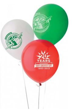 Operation Christmas Child Latex Balloons