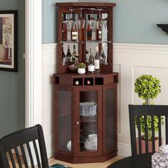 45 Trendy Home Bar Corner Storage Mini Bar At Home, Diy Home Bar, Modern Home Bar, Bars For Home, Diy Bar, Corner Wine Cabinet, Home Bar Cabinet, Bar Cabinets For Home, Dining Room Corner