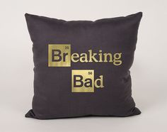 Breaking bad logo Cotton throw Pillow Cover  16x16 by Daneeyo