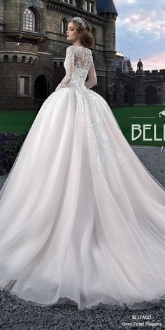 Royal Train Muslim Wedding Dress Vintage Lace Long Sleeve Ball Gown Wedding Dress Jollianne 2