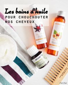 Les bains d'huile pour chouchouter nos cheveux – Crik+Crak – Hair is Art Facial Steaming, Curly Hair Care, Natural Cosmetics, Hair Care Tips, Hair Oil, Beauty Care, Beauty Tips, Natural Skin Care, Natural Beauty