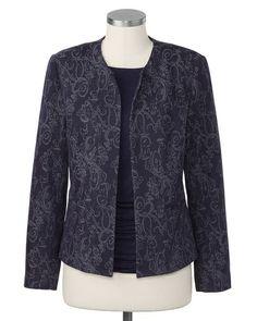 Nightfall jacquard jacket | #ColdwaterCreek