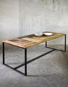 Esstische - Esstisch aus Bauholz & Eisen Nadine 200 x 1... - ein Designerstück von FraaiBerlin bei DaWanda