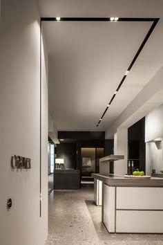 Ideas for Home Lighting Design Track Lighting Bedroom, Dining Room Lighting, Interior Lighting, Lighting Design, Lighting Ideas, Strip Lighting, Industrial Track Lighting, Modern Track Lighting, Ceiling Light Design