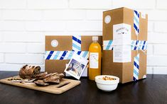 The concept behind Breakfast Club, a Saudi Arabia breakfast delivery food  service, is to give you the experience of receiving a desired package. Your  breakfast comes complete with postcards, stamps and stickers in a postal  type design.
