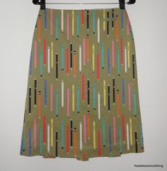 Pencil Print Pencil Skirt! | Anthropologie