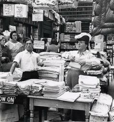 Old Petticoat lane Market, London people shouting and hawking their wares noisy funny like a piece of theatre
