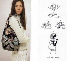 Renove a sua bolsa usando apenas um pedaço de tecido | Revista Artesanato