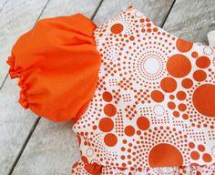 puff sleeve toddler dress/free pattern