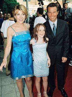 Natasha Richardson, Lindsay Lohan and Dennis Quaid @ premiere of The Parent Trap
