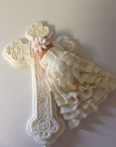 CHRISTENING CAKE TOPPER Baby Girl First by BabyCakesByJennifer, $35.00