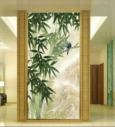 Glass Design, Door Design, Wall Design, Living Room Partition Design, Room Partition Designs, Tree Wall Murals, Mural Art, Sala Oriental, Diy Wall
