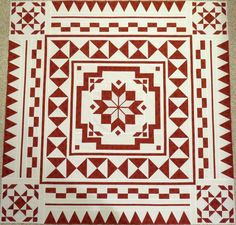 Ohio Red and White Medallion, Fire and Ice Red And White Quilts, Medallion Quilt, Fire And Ice, Quilting Projects, Embroidery Stitches, Quilt Studio, Quilt Patterns, Crochet, Ohio