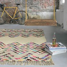 Tika Savana Rugs 79501 by Brink and Campman buy online from the rug seller uk Industrial Rugs, Industrial Interiors, Colorful Rugs, Multicoloured Rugs, Chevron Rugs, Floor Cloth, Modern Rugs, Stripes Design, Soft Furnishings