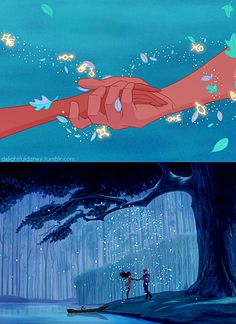 Pocahontas and John Smith a true love story nabout two worlds and one love. Disney's version is nicer than what truly happend to Pocahontas.