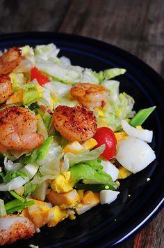 Blackened Shrimp Salad yanında rakı offfffffffff