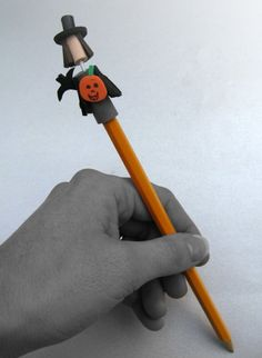 Halloween paper pencils favors  set of 6 by auleecreations on Etsy, $29.00