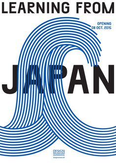 """The illustration of """"big wave' is the most emphasized  feature of this poster.  Learning-from-Japan.png"""