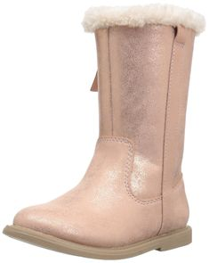 carter's Girls' Matilda2 Fashion Boot, Pink, 5 M US Toddler. Side zipper closure. Low heel.