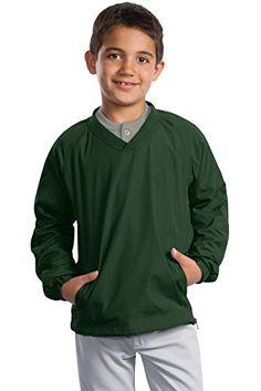 c016c3d4e Sport-Tek Boys  V Neck Raglan Wind Shirt Discount Rugs