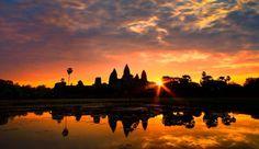 The Beautiful Sunset at Angkor Wat