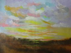 Distant Skies !! Abstract !! Abstract Landscape !! Small Painting !!