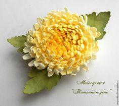 Мастер-класс.Делаем хризантему из фоамирана - Ярмарка Мастеров - ручная работа, handmade