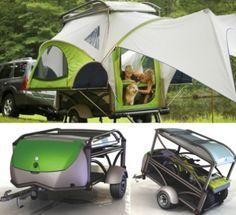 Camper Trailers: 16 Modern and Creative Camping Trailers Camping Glamping, Camping And Hiking, Camping Survival, Camping Gear, Camping Hacks, Palomino, Outdoor Fun, Outdoor Gear, Motorcycle Camping