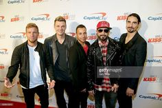Brian Littrell, Nick Carter, Howie Dorough, A. J. McLean and Kevin Richardson of the Backstreet Boys attend the 106.1 KISS FM's Jingle Ball 2016 Presented by Capital One at American Airlines Center on November 29, 2016 in Dallas, Texas.