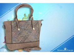 *PL* Borsa da donna Shopping Montecarlo Principe 14598 Taupe multi 1 AZ234