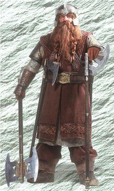 The Lord of the Rings...Gimli son of Gloin. He attended the Council of Elrond with Gimli,