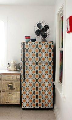 Wallpapered refrigerator