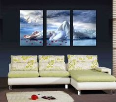 Lots off canvas art for decorating home and office