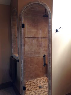 The finished product of my master bath remodel.  Steam shower.