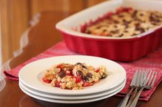 Four Ingredient Chocolate Cherry Cobbler