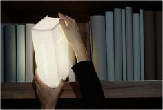 Book-Shaped Light. NEED!!!!!!!!!