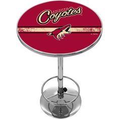 NHL Chrome Pub Table, Arizona Coyotes, Multicolor