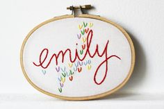 Embroidered Baby Name Sign. Rainbow Cloud by merriweathercouncil, $42.00