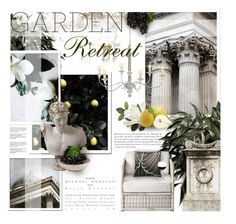 """""""Garden Retreat"""" by kearalachelle ❤ liked on Polyvore featuring interior, interiors, interior design, home, home decor, interior decorating, Burberry, Vision, Pacifica and By Nord"""