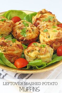 Kids Meals Bring leftovers back to life with these delicious mashed potato, ham, cheese and pea muffins! Great for kids too! Leftover Mashed Potatoes, Mashed Potato Recipes, Cheesy Potatoes, Baked Potatoes, Savory Muffins, Cheese Muffins, Potato Pancakes, Easy Meals For Kids, Kids Meals