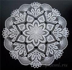 Hoje tem Flor !!!: Centrinho de mesa / Toalhinha Crochê  com gráfico
