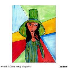 Woman in Green Hat