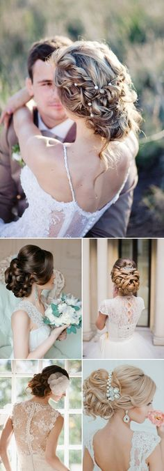 Vintage Hairstyles Updo Stunning Wedding Hairstyles for Every Bride from Elstile. - In need of inspiration for your wedding day updo? Try some of these gorgeous wedding hairstyles from Elstile. Take a look and happy pinning Wedding Hairstyles For Long Hair, Wedding Hair And Makeup, Wedding Beauty, Bride Hairstyles, Bridal Hair, Brunette Hairstyles, Hairstyles 2018, Vintage Hairstyles, Mod Wedding