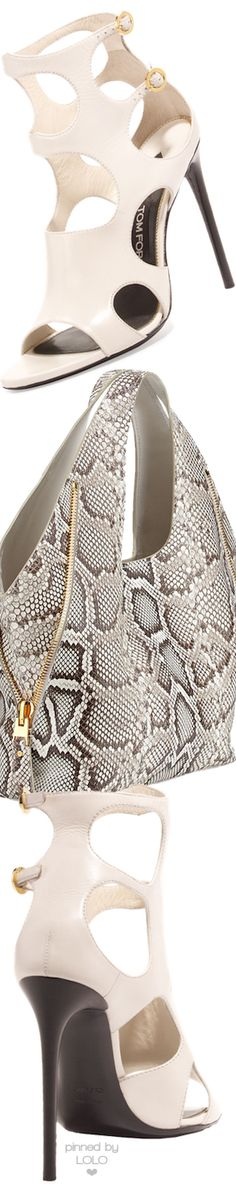 TOM FORD Cutout Leather 105mm Sandal in Chalk | LOLO❤︎
