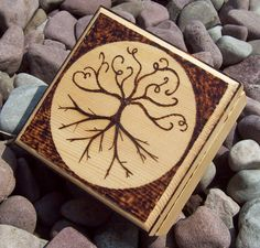 Wood Burned Tree Of Life Trinket Box. $19.99, via Etsy.