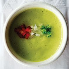 Chilled Avocado Soup (Sopa Fria de Aguacate) | Brightened with chiles and lime juice, this silky avocado soup gets an added dose of richness from heavy cream.